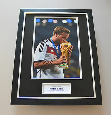 Mario Gotze Signed Framed 16x12 Photo Autograph Germany Memorabilia Display +COA