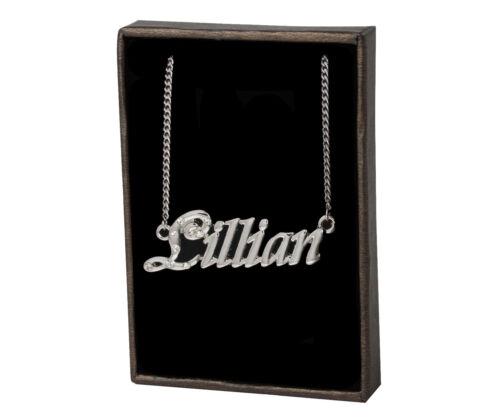 Name Necklace Lillian 18K Gold PlatedWedding Unique Custom Made Birthday