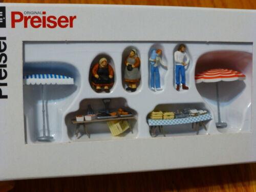 Preiser HO #10052 Vendors Market Stalls