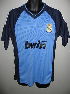 new concept 0436f eb378 RARE VINTAGE REAL MADRID BLUE FUTBOL SOCCER JERSEY MEN'S ...