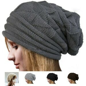 Beanie Hats For Women Summer Ski Knit Crochet Winter Cap Slouchy ... 6de7ac5c317