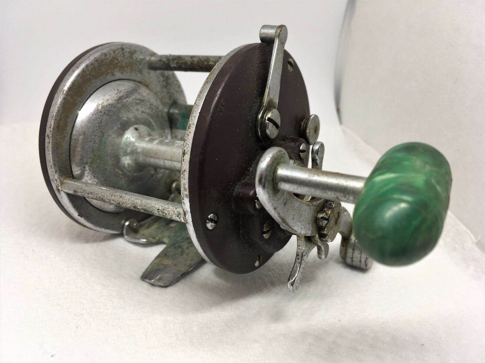 Vintage PENN PEER No. 209 Level Wind Casting Saltwater Fishing Reel Made In USA