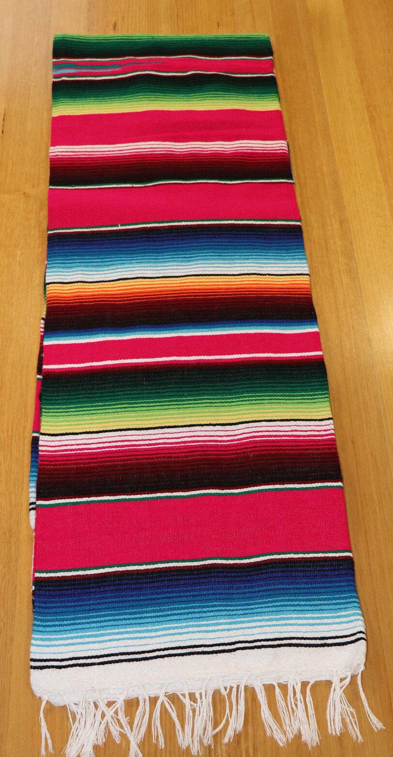 Mexican Sarape Pink, Blanket, Rug, Picnic, Throw, Tablecloth, Hot Rod, Yoga