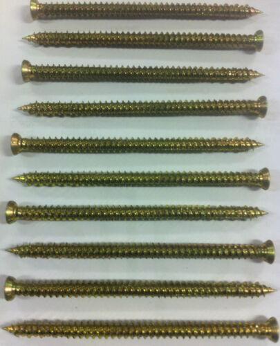 7.5 X 112 tornillos de marco de hormigón albañilería Marco de fijación directa-Spax estoque ladrillo