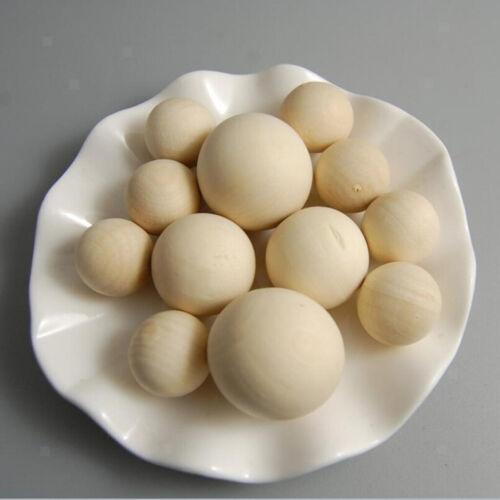 100 Stück Groß Runde Holzperlen Spacer Perlen Schmuckherstellung