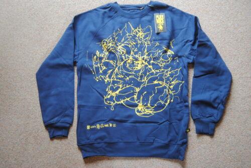 Play Nizza abbigliamento Allover Scrawl BLUE Felpa nuova con etichetta ufficiale dell/' onorevole JAGO RARA ARTE