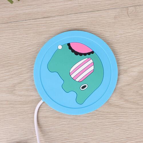 USB Warmer Cartoon Silicone Cup-Pad Coffee Tea Drink usb Heater Tray Mug BT