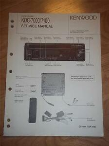kenwood service manual kdc 7000 7100 cd receiver player car audio rh ebay com Car DVD Player Car Stereo Media Player