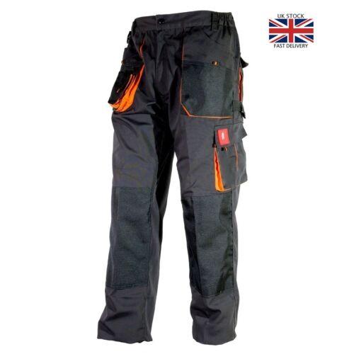 di Duty Cargo Heavy Pantaloni da Ginocchia lavoro Grigio stile Tasche combattimento Mens Tasche e arancione qX8fwt8