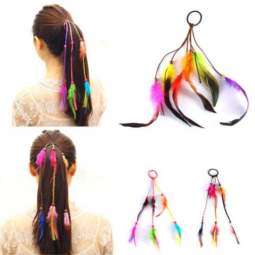 Bohemian Peacock Feather Headband Rope Knitted Fashion Tassels  Hippie Headdress