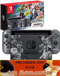smash bros limited edition switch console