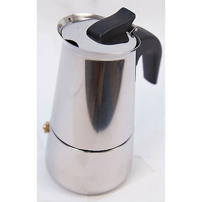 9 Cups Stainless Steel Moka Espresso Coffee Maker Percolator Stove Top Pot