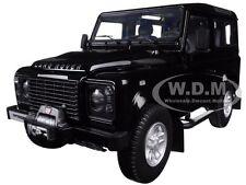 1984 LAND ROVER DEFENDER 90 BLACK 1/18 DIECAST CAR MODEL KYOSHO 08901 BK