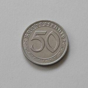 Tercer Imperio: 50 Reichspfennig 1939 G, J. 365 , Excelente