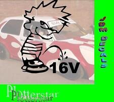 Piss of 16V Motor Hater JDM Aufkleber Sticker OEM Shocker Like Geil