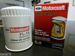 Motorcraft-Olfilter-FL1A-Ford-Mustang-Thunderbird-Falcon-F250-150-Crown-Victoria
