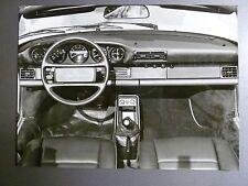 """1986 Porsche 911 Carrera Cabriolet B&W Press Factory Issued Photo """"Werkfoto"""""""