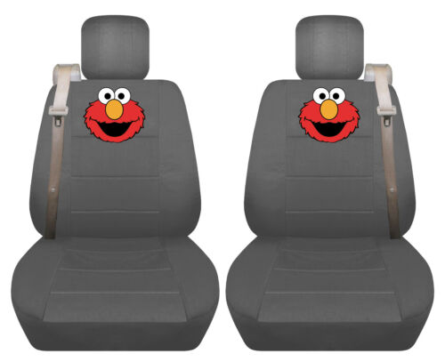 Fits Chevy trailblazer //GMC envoy front car seat cover charcoal w//fleur...