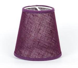 lampenschirm zum aufstecken violett farbenfroh modern e 14 klemmschirm lila ebay. Black Bedroom Furniture Sets. Home Design Ideas