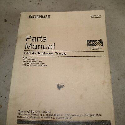 CAT Caterpillar 730 Articulated Dump Quarry Truck Part Manual Book Catalog SPARE EBay