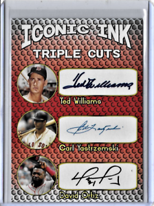 Ted-Williams-Carl-Yastrzemski-David-Ortiz-Iconic-Ink-Facsimile-Autograph-Card