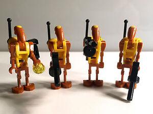 Lego Star Wars 4x Custom Battle Droid Commander Jetpack Blaster