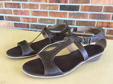 Timberland Earthkeepers Belgrade - Brown LEATHER T-STRAP SANDALS~9.5 M
