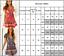 Damen Boho Blumen V-Ausschnitt Wickel Minikleid Strand Sommerkleid Wickelkleid