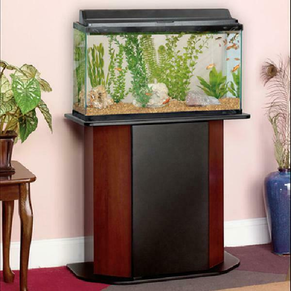 20-29 Gallons Aquarium Stand Luxurious Fish Tank Holder Cherry Marronee Cabinet New