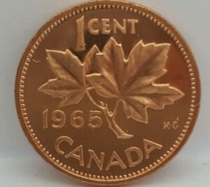1965-V2-SB-B5-Canada-Proof-Like-1-Cent-Cut-From-Mint-Set-Untouched-Still-Sealed