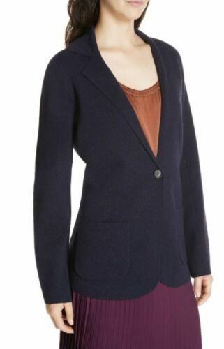 con blu Eileen Fisher blu a S collo lavabile notte lana lavabile colletto Xs in Giacca pq0qAE