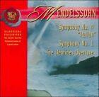 """Mendelssohn: Symphony No. 4 """"Italian"""" Symphony No. 1; Hebrides Overture (CD, Sep-2006, RCA)"""