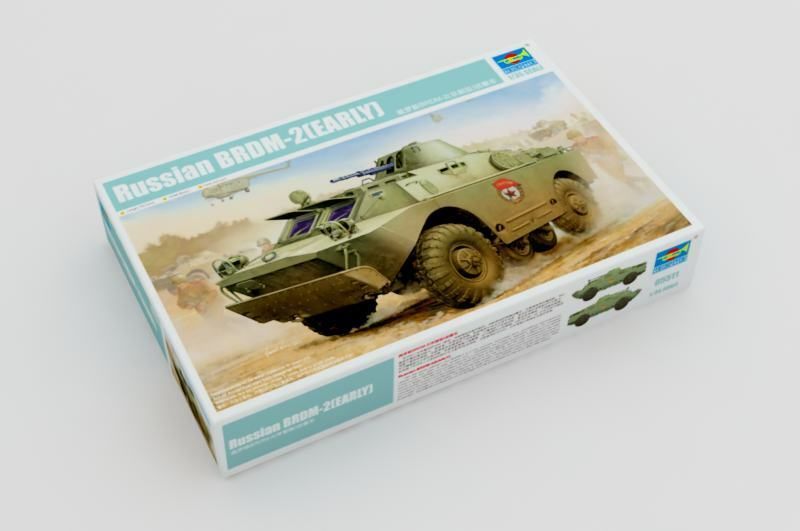 1 35 Model 05511 Russian BRDM-2 (Early) Armored Vehicle Car Tank Kit Trumpeter