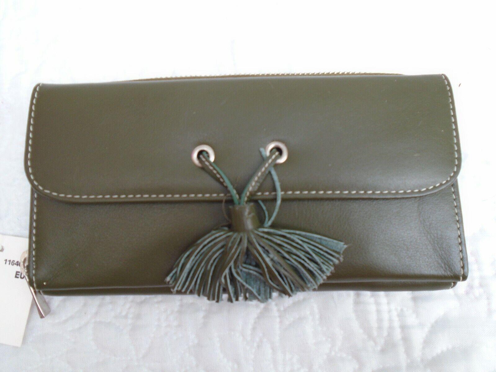 Golunski Genuine Leather Olive Green Purse BNWT