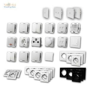 Schalter und Steckdosen FLAIR Schalterprogramm weiß unterputz UP Serie mi Rahmen