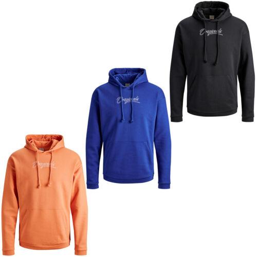 Jack /& Jones Originals Hoodie JORStomp Mens Chest Logo Hooded Jumper Sweatshirt
