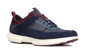 GEOX-RESPIRA-TRACCIA-U743RB-Navy-scarpe-uomo-pelle-camoscio-tessuto-sneakers