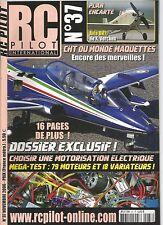 RC PILOT N°37 PLAN : AVIA BH11 / CHOISIR UNE MOTORISATION ELECTRIQUE / SJM 4003D