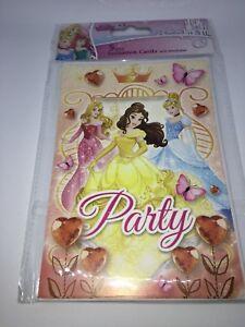 carte-invitation-Disney-princesse-heros-fete-anniversaire-cadeau-fille-garcon