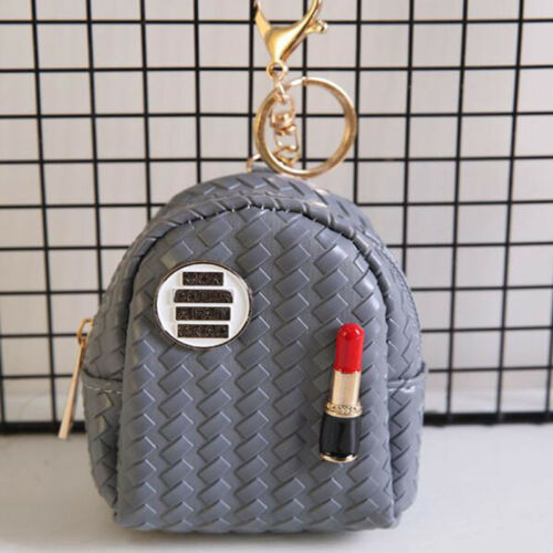 Ladies Portable Coin Keyring Holder Case Purse Mini Backpack Zip Wallet Z