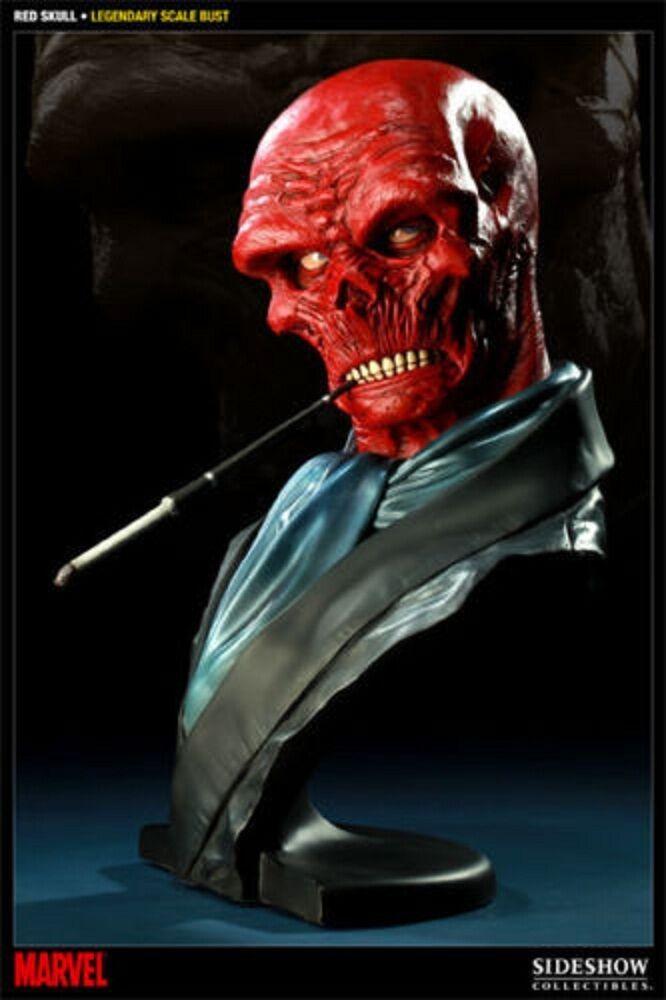 moda Sideshow Collectibles rojo cráneo Raro legendario capitán América de 1 1 1 2 Busto Estatua  para mayoristas
