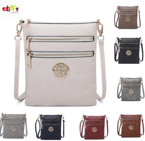 Ladies Cross Body Messenger Bag Women Shoulder Over Bags Detachable Handbags UK*