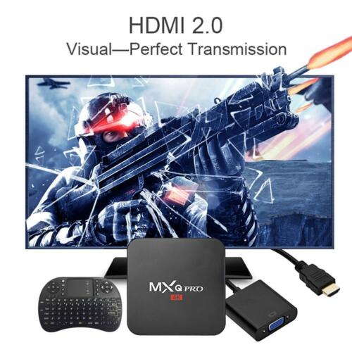 MXQ Pro 4K 3D Android 7.1 Quad Core 1+8G Smart TV Box DDR Media Player Keyboard