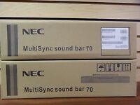 1 Piece Nec Multisync Sound Bar 70 Black Fo4-f3137a