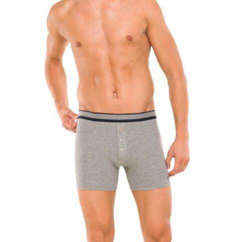 Schiesser natura Ragazzo Shorts Con Bottoni 4 5 6 7 8 Grigio Blu Bianco Nuovo