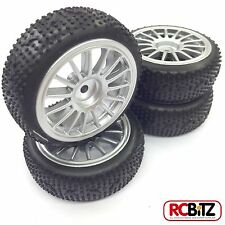 Carisma R14 Mitsubishi WRC Pre-Glued Wheels & Pin Tyres GREAT on wooden floors
