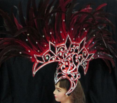 Da NeeNa H095 Mohawk Drag Queen Dress Cabaret Showgirl Feather Phoenix Headdress