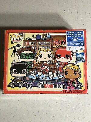 L Funko 2019 Summer Convention Exclusive Tee Big Bang Theory Bazinga Size Large POP