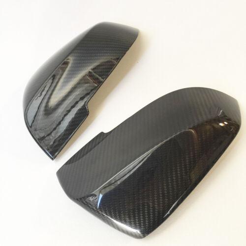 Carbon Fiber Side Mirror Cover Caps Set For 12-15 BMW F30 F31 Sedan Wagon Gloss