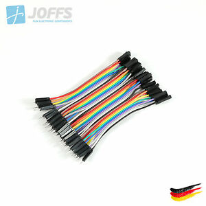 40-x-10cm-MALE-zu-FEMALE-Jumper-Kabel-Dupont-Cable-Breadboard-Wire